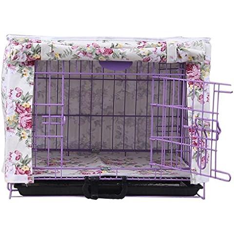 Vollter Floral estampado de flores de la perrera del perro casero de la lona del cajón de la jaula cubierta Casa