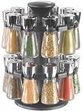 """Cole & Mason H100759 """"Hudson"""" Karussell mit 20 gefüllten Kräuter- und Gewürz-Gläsern"""