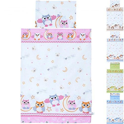 Ensemble parure du literie bébé enfant de 2 pièces linge set coton 135x100 cm & 60x40 cm