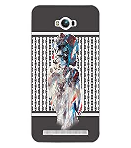 PrintDhaba Mysterious Girl D-2710 Back Case Cover for ASUS ZENFONE MAX ZC550KL (2016) (Multi-Coloured)