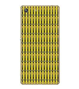 Fiobs Designer Back Case Cover for Sony Xperia M5 Dual :: Sony Xperia M5 E5633 E5643 E5663 (Multicolor Line Ethnic Design)