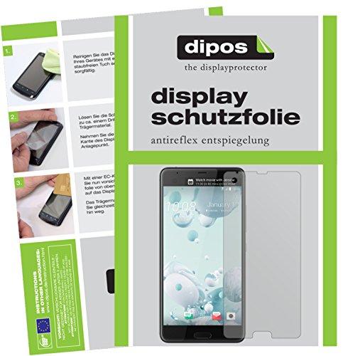 dipos I 2X Schutzfolie matt passend für HTC U Ultra Folie Bildschirmschutzfolie