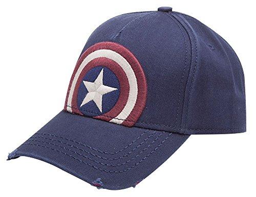 Captain america Vintage Logo Baseball Cap Blue