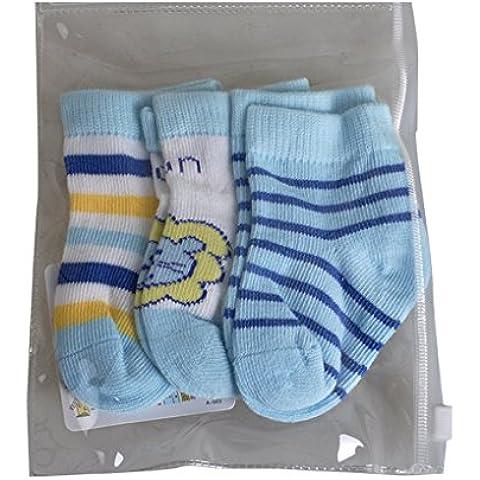 QHGstore 3pcs calzini caldi confortevoli tradizionali cotone punta per neonato ragazza Pink &. 0-6M