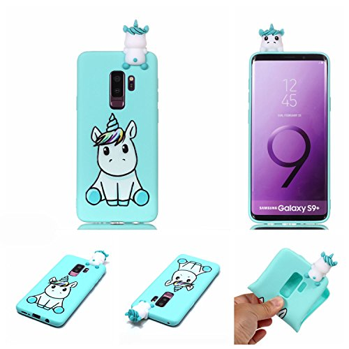 Galaxy S9Plus 15,7cm Fall, Phenix-Color 3D Cute Cartoon Soft Silikon Wimper Pferd Hello Kitty Gel Back Cover Case für Samsung Galaxy S9+ 15,7cm (2018) Fall AMP Prime, 28 - Hello Kitty Case Cover