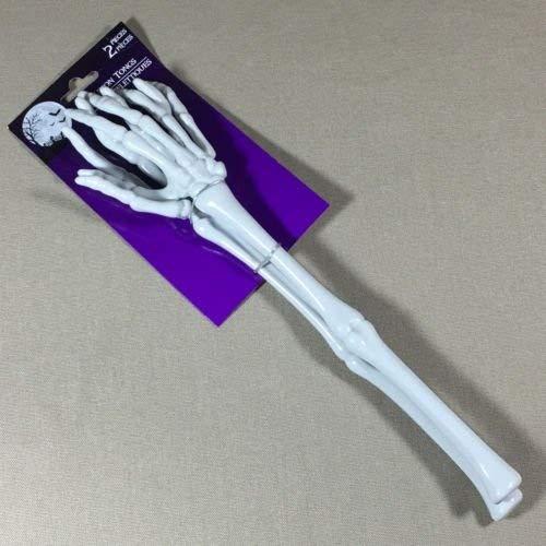 Forum Novelties 80848 Sala Halloween Skelettzange Servierhände Party Kunststoff Knochen Zombie Salat Arme 1 Stück