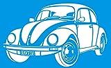 34cm x 21cm Flexibel Kunststoff Universal Schablone - Wand Airbrush Möbel Textil Decor Dekorative Muster Design Kunst Handwerk Zeichenschablone Wandschablone - Auto Fahrzeug VW Beetle