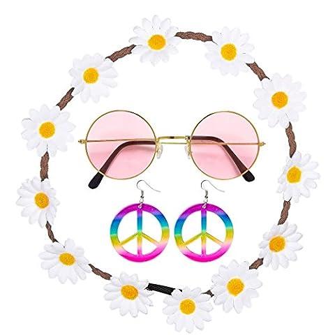 Costumes Le 60 - Avec bandeau, boucles d'oreilles et lunettes Kit