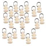 Homyl 20pcs Vorhang Roller Plastik vorhang schienen gleiter 15mm Weiß