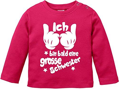 EZYshirt® Ich bin bald eine grosse Schwester Baby T-Shirt Longsleeve (Große Schwester-kleinkind-shirt)