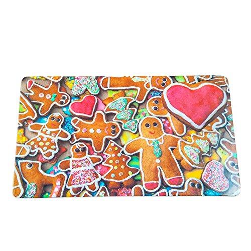 Colour-Bags Home & Living Frühstücksbrettchen/Schneidebrettchen Lebkuchenmann, 13 x 22 cm, aus Melamin lebensmittelecht - für DE kostenlose Lieferung ab EUR 29,00