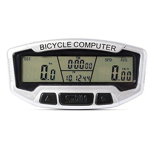 GuDoQi® Digital LCD Monitor Bicicleta Velocímetro Velocímetro Bicicleta Odómetro Velocímetro Con Retroiluminación Verde