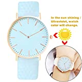 Marclex Analogue Color Change Watch for Girls and Women(Color_Change_SkyBlue)