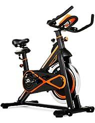 Bicicleta de spinning profesional 23kg inercia.CDW.Cuadro acero mate, calapies, sistema carenado silencioso, sistema VSS de amortiguacion
