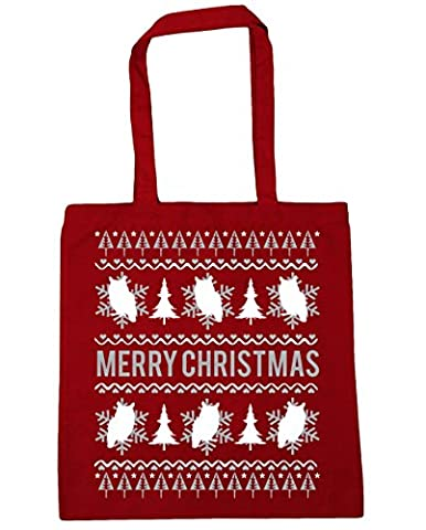 HippoWarehouse , Damen Strandtasche Gr. One size, rot (Happy Tree Friends Christmas Lights)