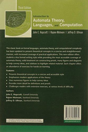 Introduction to Automata Theory, Languages, and Computation, 3e