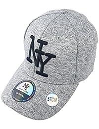 New York Casquette NY Femme Hip hop Fashion Baseball avec Visière Arrondie  Couleur Blanc Gris Réglable 1381938177ac
