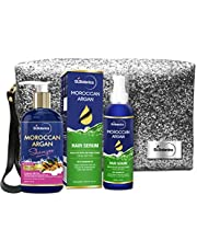 StBotanica Moroccan Argan Combo   Shampoo (300ml) + Hair Serum (120ml) With Pouch