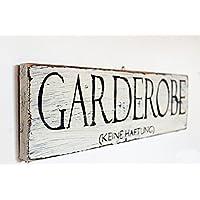 Holzschild, Vintage Style:Garderobe