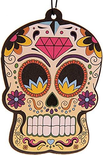 HIMM Lisch duftender Deodorante/profumo pendenti, fragranza: limone, motivo: morti testa giallo/Giorno dei Morti/Skull