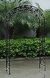 Bentley garden -Arco ornamentale in ferro battuto per giardini - nero rustico/ anticato