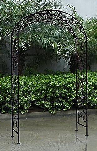 Bentley Garden - Arche décorative de jardin - fer forgé