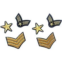 6 parches termoadhesivo ARMY-estrella ,3 stripes, para ropa ,HC Enterprise