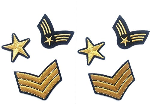 6Patches termoadhesivo army-estrella, 3Stripes, für Kleidung, HC Enterprise (Patch Paw)