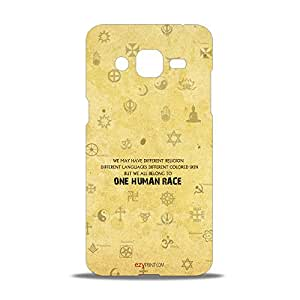 ezyPRNT Secularism Typography Beautiful Premium PC Plastic Mobile Back Case Cover for Samsung Galaxy J2