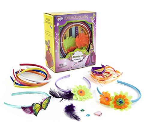 Fashion Headband, Mode -Stirnband für Mädchen , Qualitäts- Stirnband - Kits und Haarschmuck / Kreatives Spielzeug und Spielset für Mädchen mit individuell gestaltete DIY 10 Stirnband in austauschbaren Designs für Spaß . Großes Geschenk für Mädchen. Stirnband für Mädchen (Stirnband Kit Diy)
