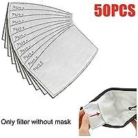 20/50 Unidades PM2.5 - Filtro de máscara Transpirable y Transpirable, Lote de filtros de carbón Activo, Filtro de carbón Activado por máscara de algodón