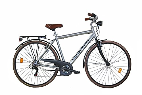 COPPI Basiano, City Bike Uomo, Argento, L