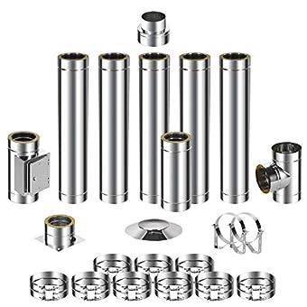 ADT Diamantwerkzeuge GmbH Kit de montage pour cheminée en acier inoxydable DW 150 6,7m 0,5