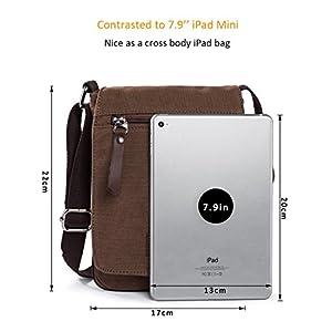 Hengwin Uomo Tela Borse a Spalla Borsello di Tela Piccolo Sacchetto del  Messaggero Borse da Uomo a Tracolla per iPad Mini trova prezzo offerta 5a87dba1442