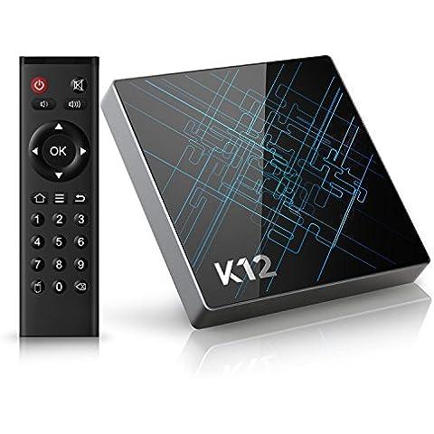 Bqeel K12 Android tv box Amlogic S912 Octa core 2GB + 16GB eMMC con 16.1 KODI (XMBC) preinstalado doble banda WiFi Bluetooth 4.1 Smart tv box