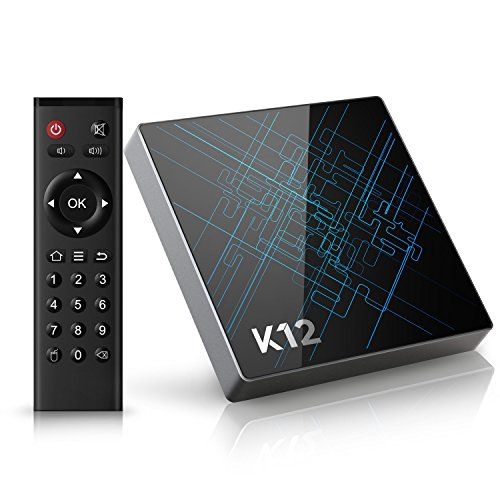 Bqeel K12 Android tv box Amlogic S912 Octa core 2GB + 16GB eMMC con 16.1 KODI (XMBC) preinstalado doble banda WiFi Bluetooth 4.1 Smart tv box