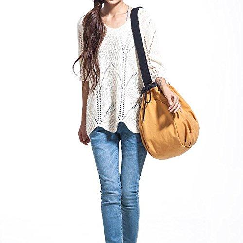 &ZHOU femminile borsa di tela borsa a tracolla grande capacità zaino Messenger Messenger bag di svago di modo 40 * 18 * 34 centimetri , blue Orange
