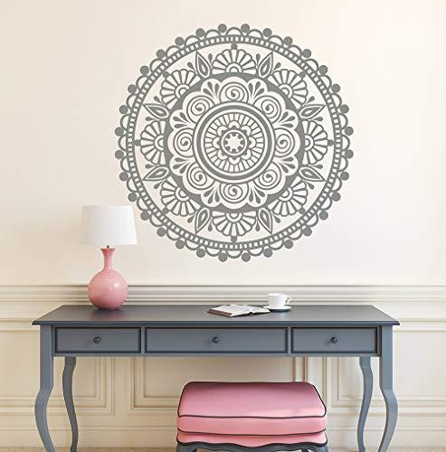 guijiumai Mandala Sticker Selbstklebend Wandtattoo Schlafzimmer Wohnzimmer Dekoration Marokkanisches Muster Boho Wandtattoos Tapete Hellrosa 57x57 cm (Kleber Fake-zähne Mit)