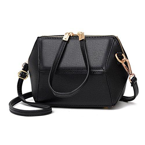 Neu Persönlichkeit Mini Muschel Geometrische Tasche Mädchen Holding Tasche Messenger Schultertasche Handy Geldbörse Black