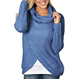 Save 45%~Clearance !!! YANG YI,Women's Casual Stylish Solid Round Neck Button Sweatshirt Long Sleeves Tops T-Shirt Pullover