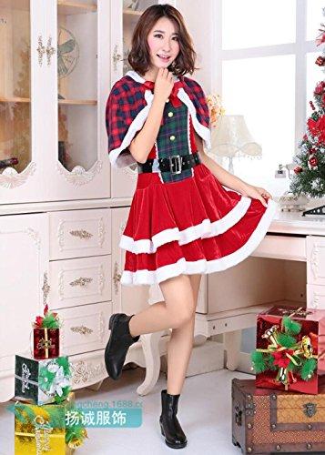 Marcus R Caveggf Frauen Weihnachten KostüMe Kleid Anzug Cute Xmas BüHnenperformance Kleidung EinschließLich Mantel Und Kleid Und - Cute Christmas Santa Kostüm