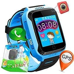 Juneo - Reloj GPS infantil, Conectividad GSM/GRPS, boton SOS, chat de voz, camara, linterna