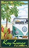 Northwest Art Mall ed-5877STH Key Largo Florida Truck Hula Print von Künstler Evelyn Jenkins Drew, 27,9x 43,2cm