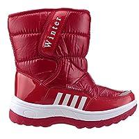 Akınalbella 1055.073 Kırmızı Fermuarlı Kız Çocuk Kar Bot Ayakkabı