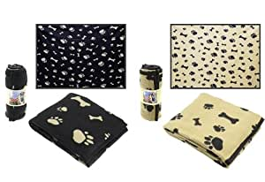 Couverture polaire pour chien – 130x170 - noir