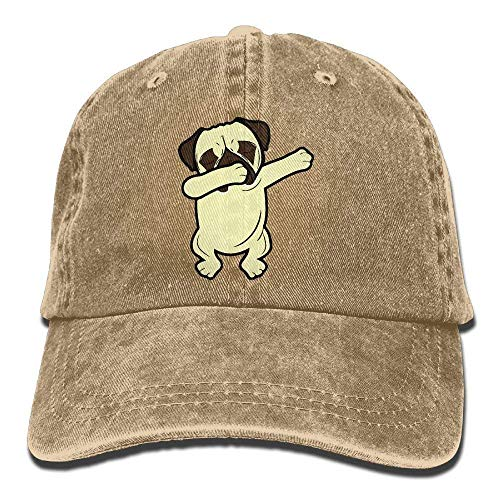 Fsrkje Adult Dabbing Pug Funny Denim Jeanet Baseball Hat Adjustable Trucker Cap SK5386