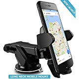 Unifree Universal Silicone Sucker Car Mobile Holder/Car Mount Long Neck 360° Rotation with Ultimate Reusable Suction Cup
