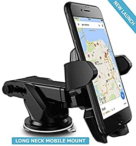 Unifree Universal Silicone Sucker Long Neck 360° Rotation Car Mobile Holder/Mount with Ultimate Reusable Suction Cup