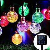 Solar String Lights 30 LED 5M Ollny Outdoor Garden Solar Operated Fairy String Lights, Waterproof Ball Decorative Lights for Gazebo Patio Christmas Xmas Lights