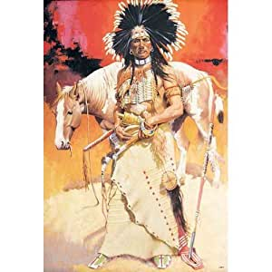 J-4274 Indian, Indigenous Peoples of the Americas, Native Americans Classic Collectibles, Decorative Poster Art Print Vintage New Size: 35 X 24 Inch